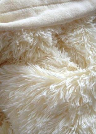"""Меховой плед-покрывало """"травка"""" с длинным ворсом 220х240 """"моло..."""