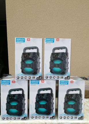 Бездротова Bluetooth колонка KTX-1057 портативна акустика