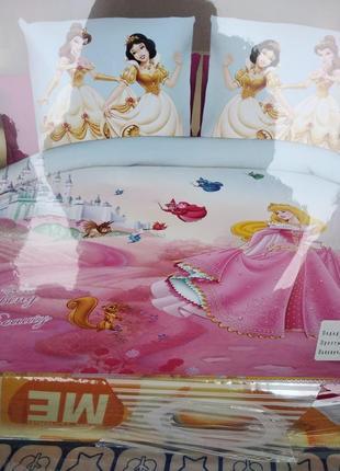 Детский комплект постельного белья из сатина принцессы