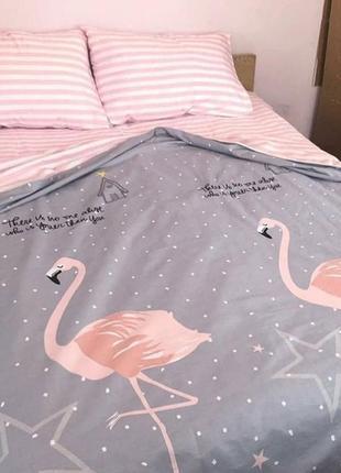 """Двухспальный комплект постельного белья из бязи голд  """"фламинго"""""""