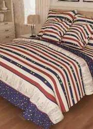 Двухспальное постельное белье бязь голд