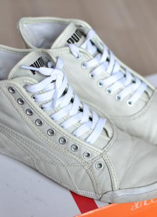 Стильные высокие кожаные белые кеды Puma.Безумно удобные.