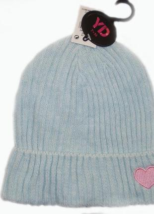 Шапка для девочки р. 7-14 лет шапочка бренд primark англия