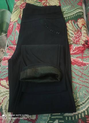 Женские брюки батал на меху