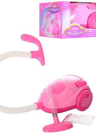 Детский игрушечный пылесос,свет, звук, пенопл. шарики.