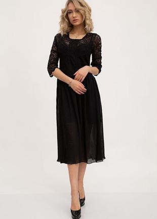 Платье вечернее кружевное цвет чёрный