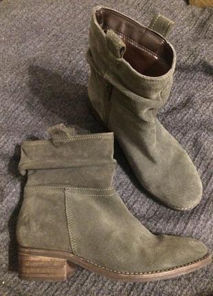 Next замшевые ботинки ботильоны полусапожки