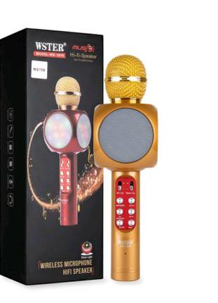 Беспроводной портативный микрофон WSTER WS-1816 для караоке с под