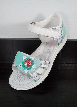 Детские босоножки c закрытой пяткой том.м. кожаные сандали с о...