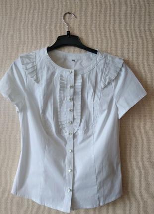 Блуза женская белая р. S