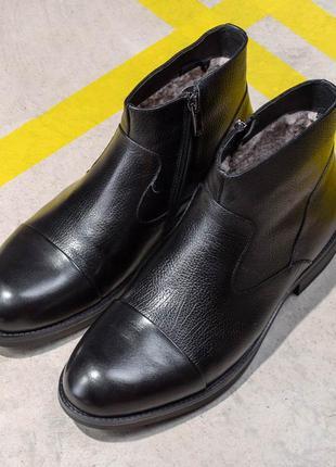 Кожаные зимние классические ботинки (324384)