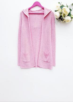 Нежный свитер кардиган нежно розовый кардиган