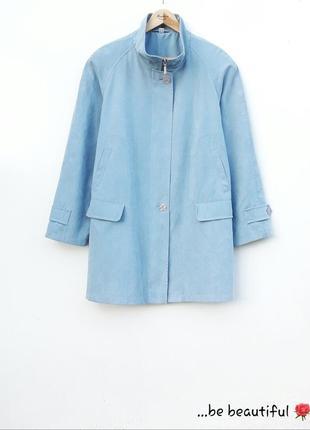Голубая ветровка голубая куртка на весну осень большой размер ...