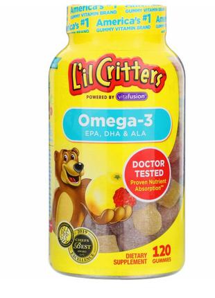 Омега-3, со вкусом малины и лимонада,для детей