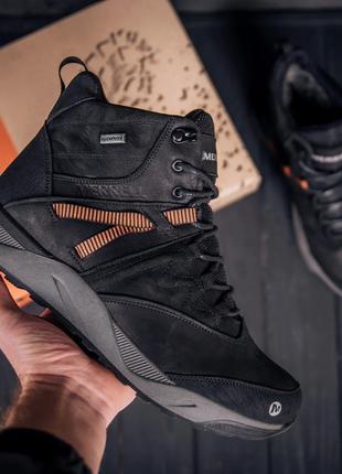 Мужские зимние кожаные ботинки MERRELL