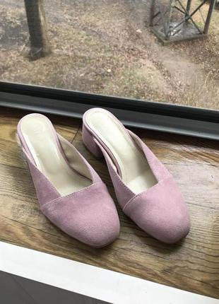 Нежные туфли-мюли