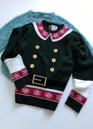Новогодний свитер унисекс рр м-л