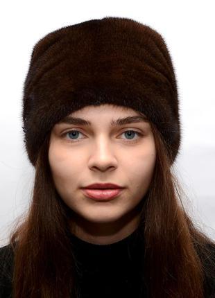 Женская зимняя норковая кубанка