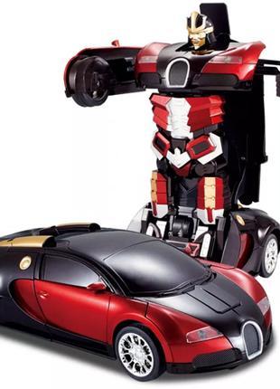 Радиоуправляемая машина-трансформер Bugatti 28 см.