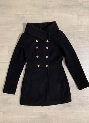 Пальто женское кашемировое чёрное