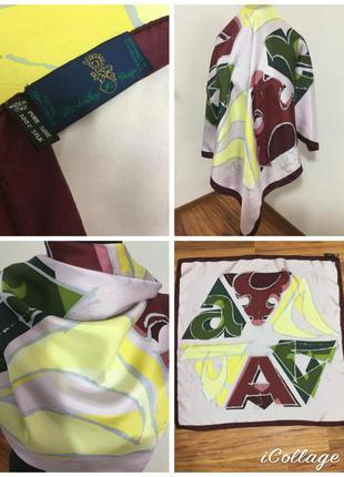 Фирменный, шелковый платок, оригинал, 100% шёлк