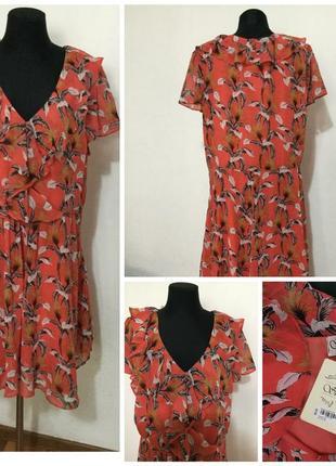 Фирменное, нежное, шифоновая платье, большой размер