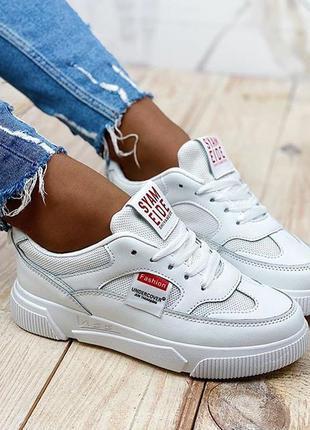 Стильные белые кроссовки/кеды /криперы