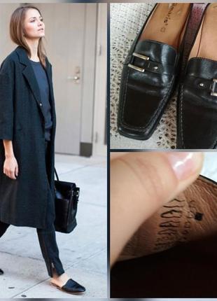 Фирменные, стильные кожаные мюли, бабуши с квадраным носком, 1...