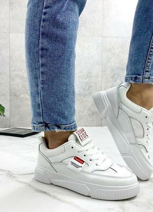 Белые кроссовки кеды криперы