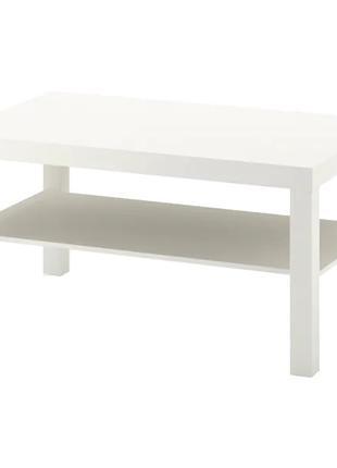 Журнальный столик IKEA белый 90x55 см прямоугольный придиванный