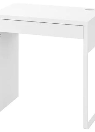Письменный стол белый IKEA 73x50 см компьютерный столик для ноута