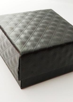 коробочка шанель бокс черная для кольца