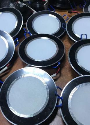Светильники круглые 8W точечные светодиодные LED встраиваемые ...