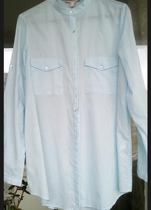 Удлиненная рубашка из тоненького 💯 % хлопка esprit