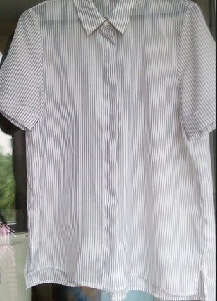 Рубашка в полоску с коротким рукавом от mango