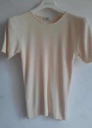 Шикарная шёлковая  футболка в рубчик 100% шёлк