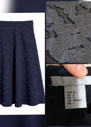 Фирменная, роскошная, базовая юбка миди из роскошной жаккардов...