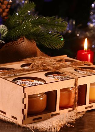 Подарочный набор/Орехи с мёдом/Крем-мёд/Орехи в меду/Подарок