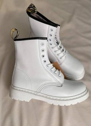 Dr. martens 1460 white мех