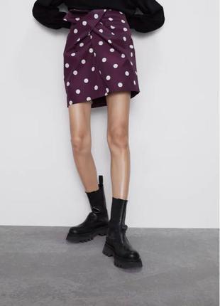 Мини юбка в горох / міні спідниця в горох Zara - ХS Нова