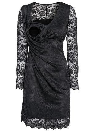 Фирменное, роскошное кружевное платье миди для кормящей мамы (...