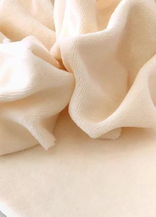 Ткань для рукоделия велюр хлопковый Ваниль