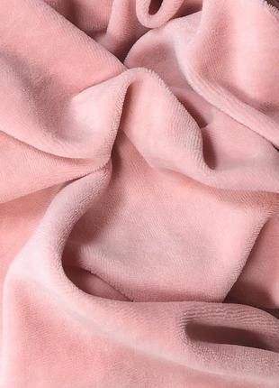 Ткань для рукоделия велюр хлопковый пудра