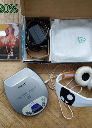 Philips/CD/Плеер/MP3/Наушники/Навушники/Проигрыватель/Музика/Диск