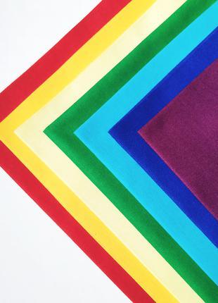Набор хлопковой ткани для рукоделия Радужный