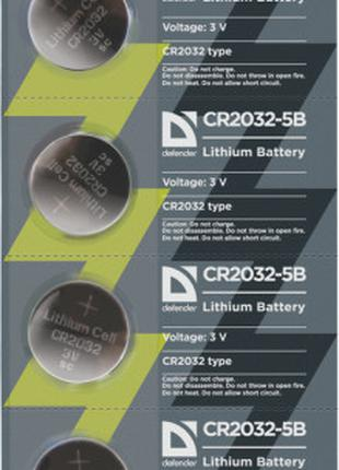 Батарейки Defender CR2032 5V