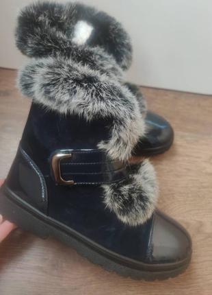 Женские зимние ботинки с мехом кролика