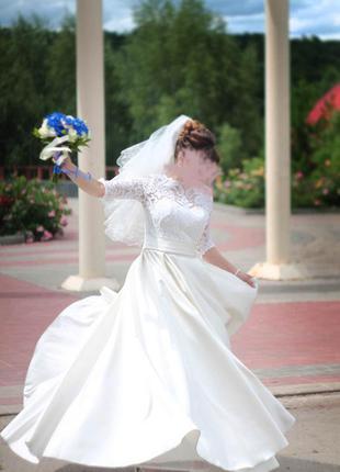 Шикарное свадебное платье цвета айвори для шикарной невесты / ...
