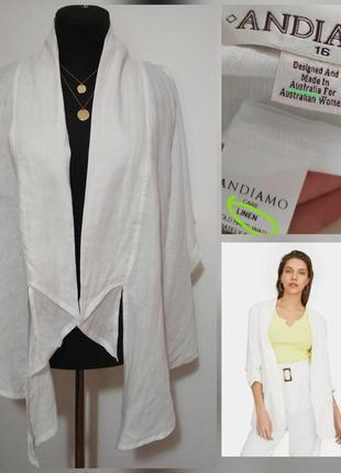 Роскошная льняная рубашка, жилет, накидка, 100% лён, супер кач...