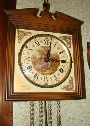 Винтажные настенные часы E. SCHMECKENBECHER с маятником